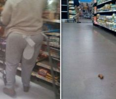 What Happens at Walmart Stays at Walmart - Poop on the Floor WTF Ew Gross - Funny Pictures at Walmart