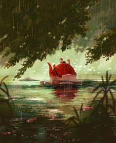 The Borrowers Afloat on Behance - These are such great illustrations!
