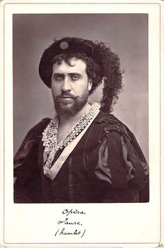 French baritone (1830-1914), unsigned cabinet photo, shown in the title role in Hamlet. Size is 4.25 x 6.5 inches.