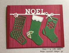 Hang Your Stocking - Stamp It Up With Jaimie
