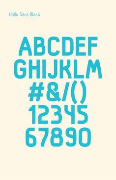 Foto: Hallo, fuente Sans Serif gratuita   tipografia diseno recursos fuentes diseno