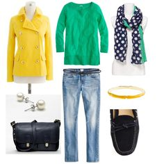 I want a yellow jacket for Spring! Actually, I want this whole outfit.