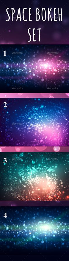 Space Bokeh Light Set by Betty_sue Abstract space background with spiral blurred glitter color bokeh lights for your web site, graphic design, wallpaper