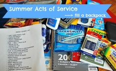 Ideas to create service projects around Back to School