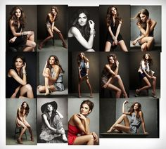 different model poses