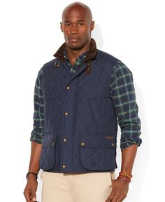 Polo Ralph Lauren Big & Tall Diamond-Quilted Vest | Men's Big and ... : polo quilted vest - Adamdwight.com