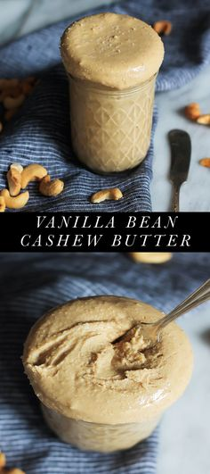 Easy to make homemade cashew butter -- this creamy nut butter recipe is flavored with specks of vanilla bean and sea salt! Use it in any recipe that calls for peanut or almond butter!