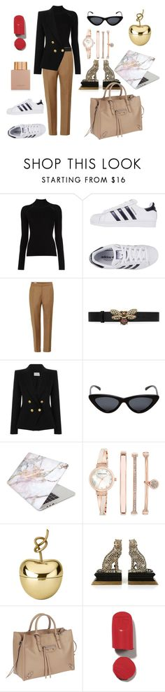 """""""Untitled #433"""" by gloriatovizi on Polyvore featuring adidas Originals, Dries Van Noten, Gucci, Pierre Balmain, Le Specs, Recover, Anne Klein, Ghidini 1961, House of Hackney and Balenciaga"""