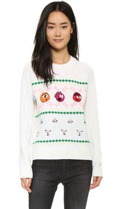 Ç x mira mikati  Christmas Sweater - White Multi in White (White Multi)