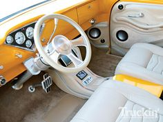 56 Chevy truck interior by BAM1955, via Flickr