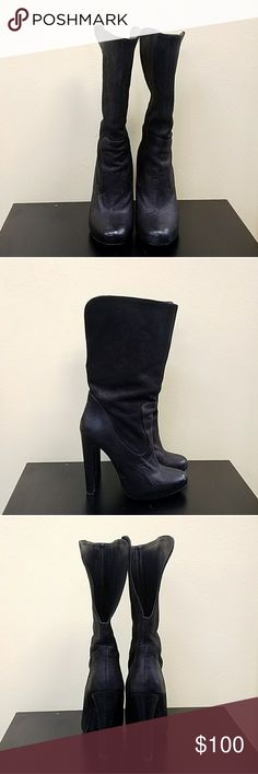 All Saints black boots with heels size 7.5 Lightly used All Saints Shoes Heeled Boots
