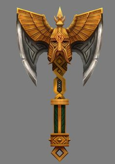 Dwarven Axe of Returning? Fantasy Dwarf, Fantasy Armor, Fantasy Weapons, Medieval Fantasy, Weapon Concept Art, Armor Concept, Espada Anime, 3d Cnc, Battle Axe