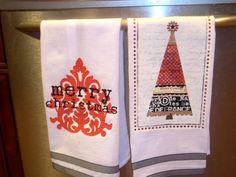 MYO Christmas Tea Towel using Scrapblog.com