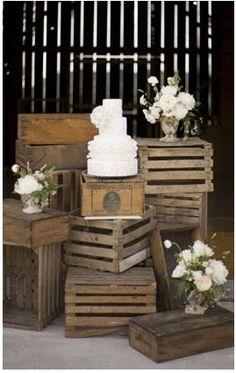 A107díasDemiBODA: Inspiración Rústica...¡Cajas de madera!