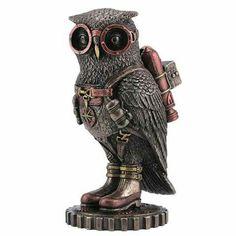 Steam punk owl sculpture