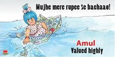 Amul's take on the downfall of indian rupee