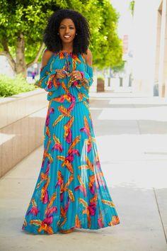 Bohemian Pleated Maxi Dress | | Garden Party Chiq