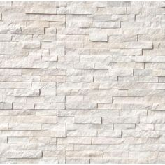 Add a stylish and innovative touch to your home by installing this MS International Arctic White Ledger Panel Natural Marble Wall Tile. Fireplace Remodel, Fireplace Wall, Fireplace Surrounds, Slate Wall Tiles, Marble Wall, White Marble, White Stone Fireplaces, Ledger Stone Fireplace, Stone Siding