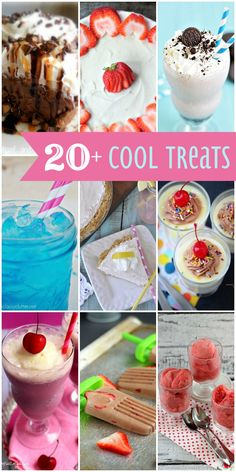 20+ Cool Treats that are delicious and will help you cool down this summer! { lilluna.com }