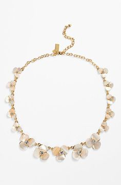 kate spade new york 'disco pansy' wedding necklace
