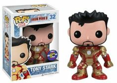 Amazon.com : SDCC 2013 FUNKO POP IRON MAN 3 Mark 32 Unmasked Tony Stark Figure : Loki Funko : Toys & Games