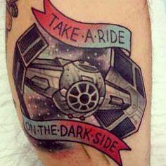 starwars darkside tattoo ink starwarstattoo girlwithtattoo by theonlysithlord - instaview.me
