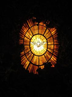 The Holy Spirit.  Stained-glass window, St. Peter's Basilica, Vatican.  ...oookaayyyy?  How come it's in landscape?