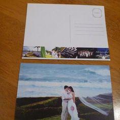 Postcard thankyou card! Great for destination wedding!!