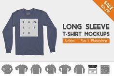 Long Sleeve T-Shirt Apparel Mockups by Photific on Creative Market
