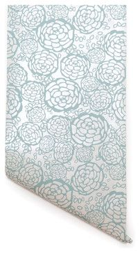 Petal Pusher Wallpaper - contemporary - Wallpaper - Hygge & West