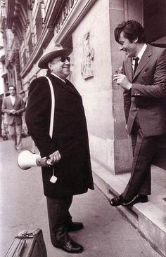 Jean-Pierre Melville and Alain Delon