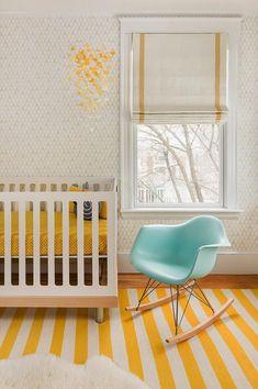 Yellow Butterfly Nursery Mobile, Contemporary, Nursery