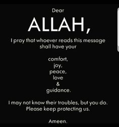 If you are reading this message, this prayer is for you. Ameen. #Islam