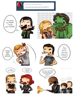 Derpvengers deal with breakups I love Coulson and Robin (I know that's not her name but I can't remember it) in the back with marshmallows