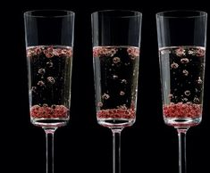 kir caviar and champagne - the alginate beads