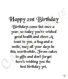 21st Birthday Quotes Happy 21st Birthday Wishes to Daughter | PARTY IDEAS | Pinterest  21st Birthday Quotes