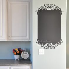 Vinyl Wall Decal on Etsy, $15.00... do it in a cupboard and use as a grocery list!