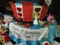Alice in Wonderland Birthday Cake by ArtisanCakeCompany, via Flickr