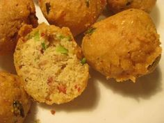 This amazing gluten free bacon and chive hush puppies recipe created by Brittany Angell and available on her website BrittanyAngell.com.