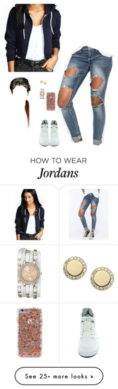 """Hey"" by princessteauna on Polyvore featuring Boohoo, Almost Famous, NIKE, FOSSIL, XOXO, women's clothing, women's fashion, women, female and woman"