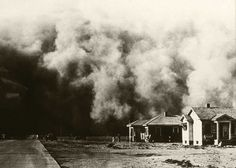 Dust Bowl storm in the plains states