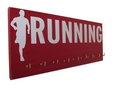 runners silhouette  running medals hanger  by runningonthewall, $28.99