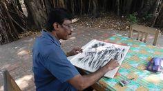 S Jayaraj - Charcoal & Mixed media - www.sjayarajart.com