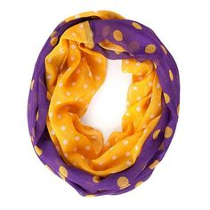 Purple and Yellow Infinty Scarf