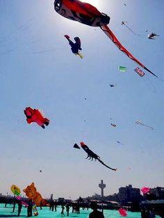 Festival Internacional de Pipas acontece na Índia