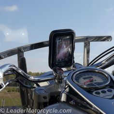 Need to waterproof your phone or GPS? The Hydra does just that - and can be mounted vertically (as shown here) or horizontally (if using GPS app for example). Back side has a ball design for total adjustability. Mounting to the windshield puts your phone or GPS right where you need it! http://www.leadermotorcycle.com/windshield-mounts/