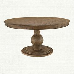 "Lara 60"" Round Pedestal Dining Table In Natural"