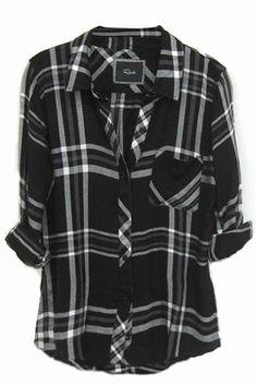 Rails Hunter Plaid Shirt in Black/White/Gray | shopthetrendboutique