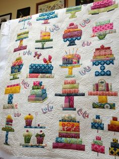 Cake quilt is so adorable!