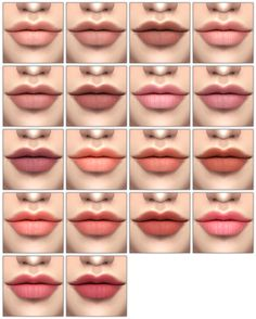 "sim-ent: "" [SIMSCLUB] Ettarvin Lips • 18 Swatches • Unisex • Don't Re-upload • [Download] "" The Sims 4 Skin, The Sims 4 Pc, Sims Four, Sims 4 Mm, Sims 4 Game Mods, Sims Games, Sims 4 Cc Makeup, Mod Makeup, Sims 4 Pets"